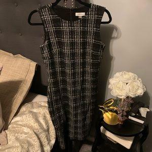 NWOT CalvinKlein BlackWhite Sleeveless Dress Size6